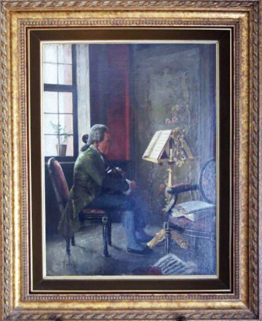 19th Century Portrait Oil Painting by Otto Herschel