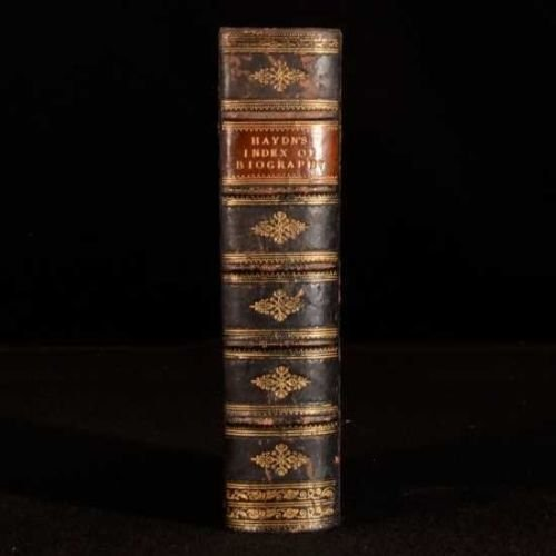 Rare 1870 Haydn's Universal Index of Biography