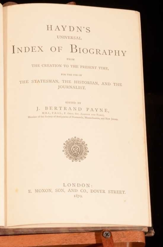 Rare 1870 Haydn's Universal Index of Biography - 3