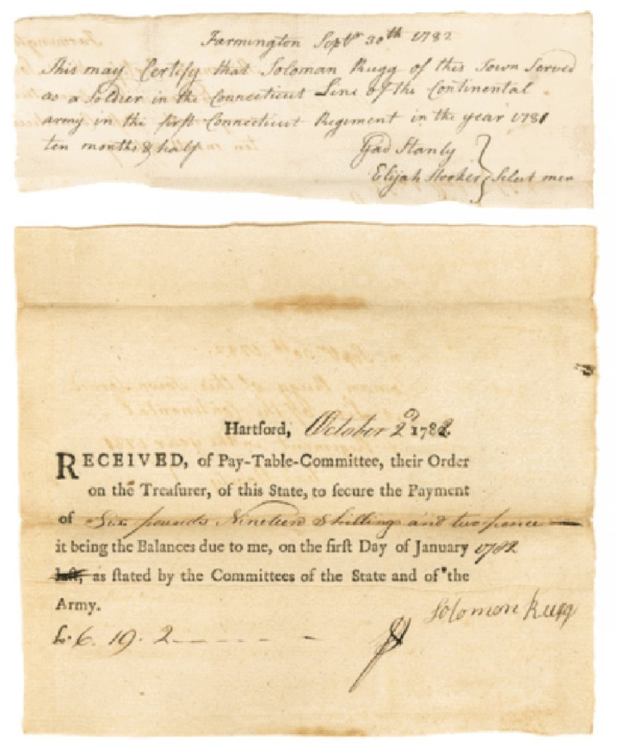 Pair of Related Revolutionary War Documents - 1781