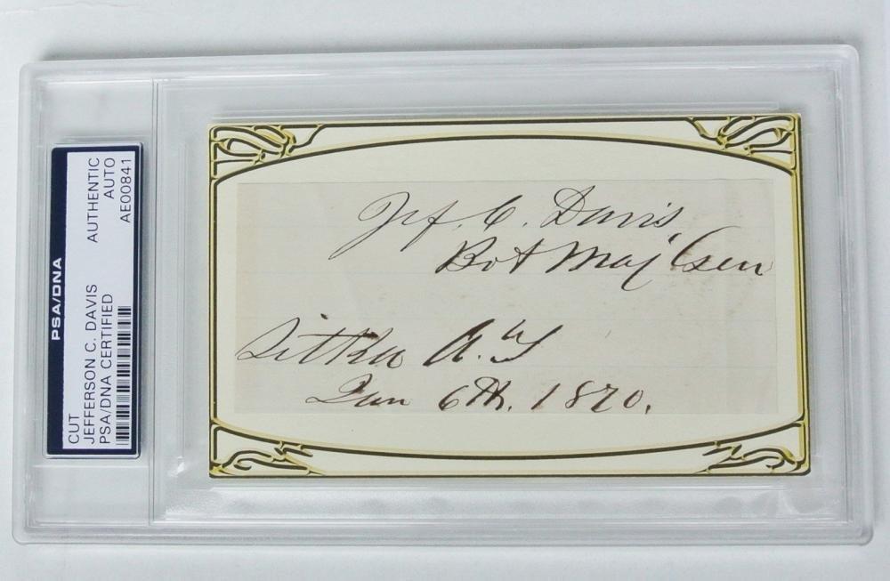 "RARE Signature of Gen. Davis Who Shot Gen.""Bull"" Nelson"