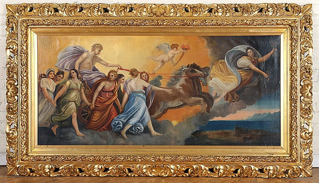Monumental 18th Century Oil Painting After Guido Reni