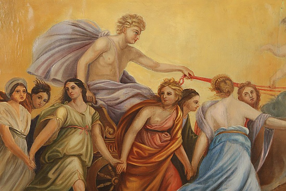 Monumental 18th Century Oil Painting After Guido Reni - 4