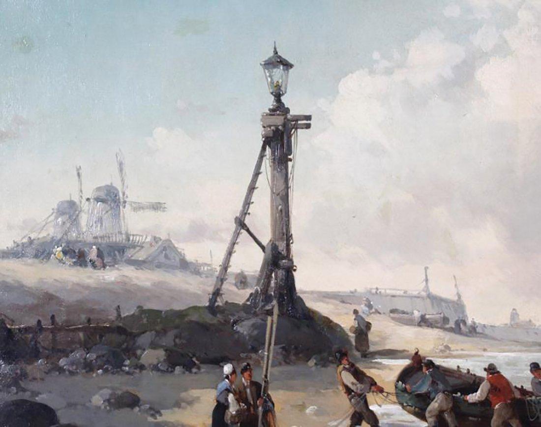19th Century Marine Coastal Oil Painting by Mazzella - 5