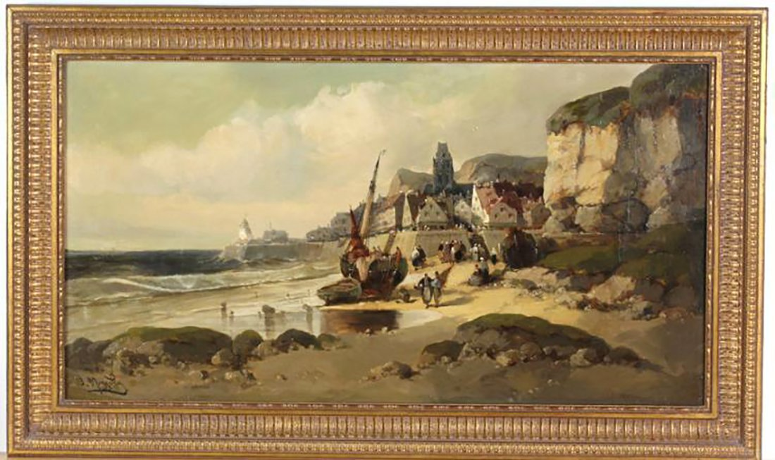 "Coastal Oil Mazzella ""Port de Pêche à Marée Basse"""