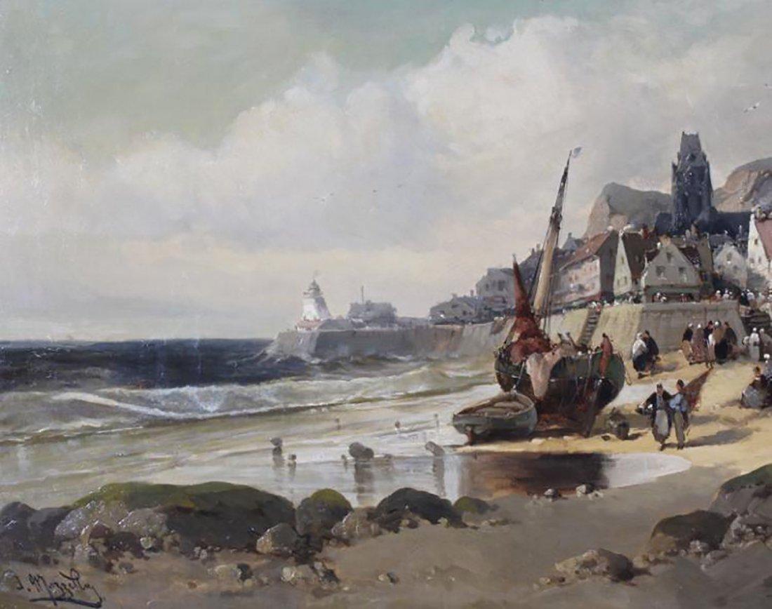 "Coastal Oil Mazzella ""Port de Pêche à Marée Basse"" - 2"