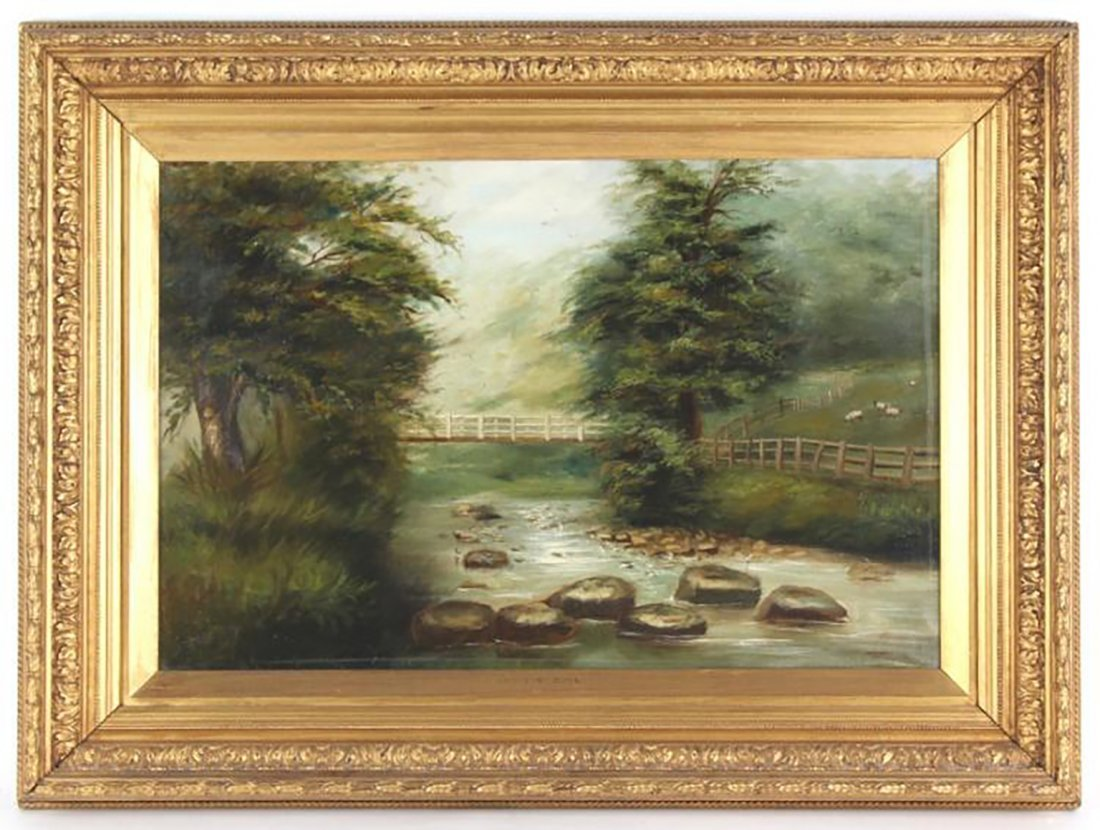 Thomas Watson Gill English Landscape Oil Painting