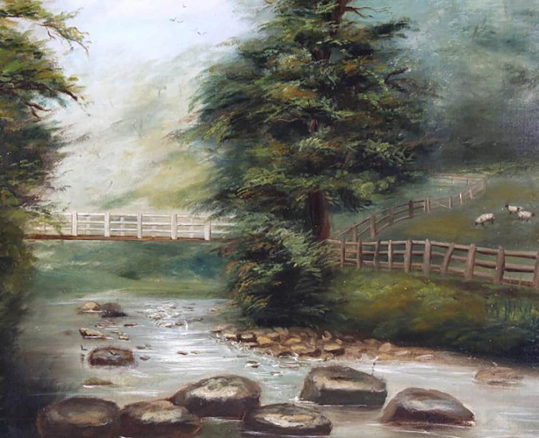 Thomas Watson Gill English Landscape Oil Painting - 2