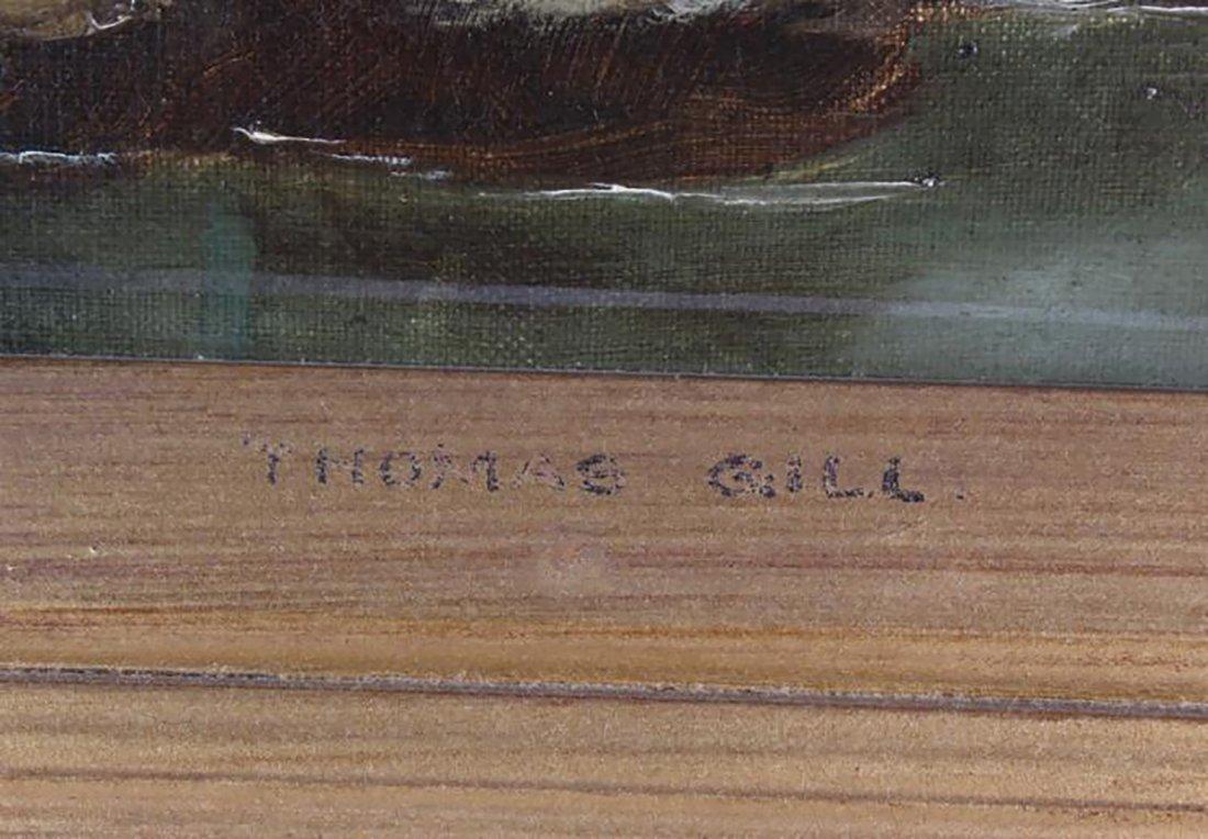 Thomas Watson Gill English Landscape Oil Painting - 3