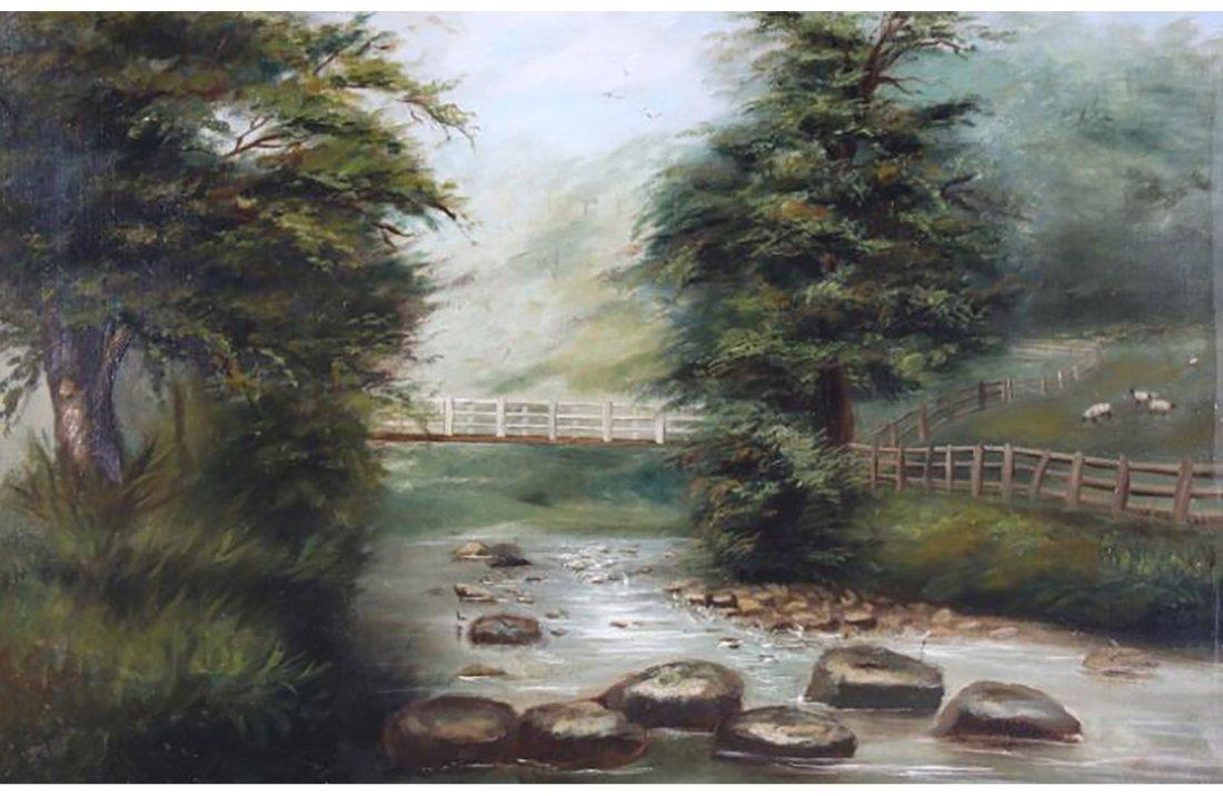 Thomas Watson Gill English Landscape Oil Painting - 5