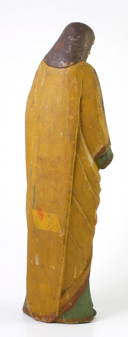 18th Century Early Santos Hand Carved Wooden Sculpture - 3