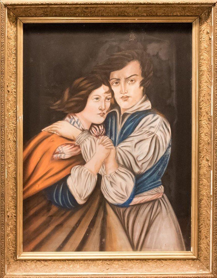 19th Century Pastel on Canvas Portrait Painting