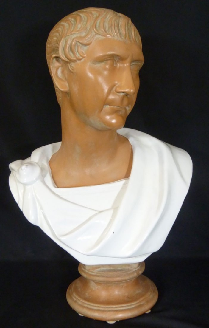 Large Italian Sculpture of the Roman Emperor Caesar