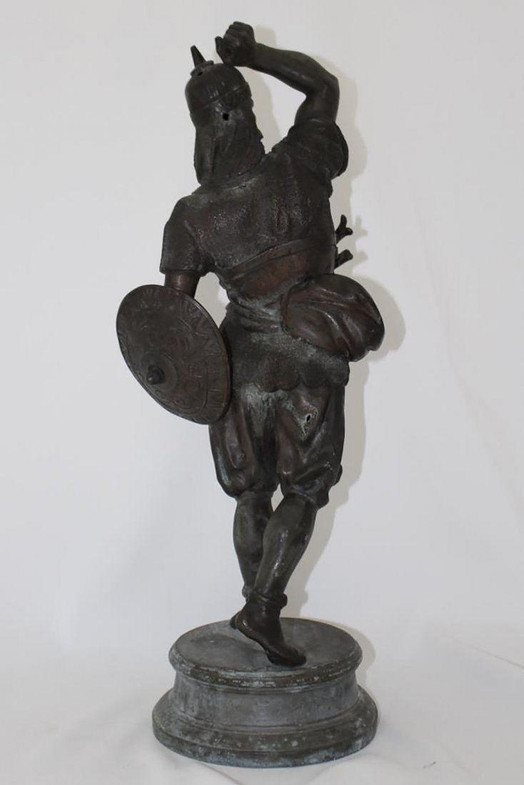Pair of Late 19th Century Spelter Warrior Figures - 4
