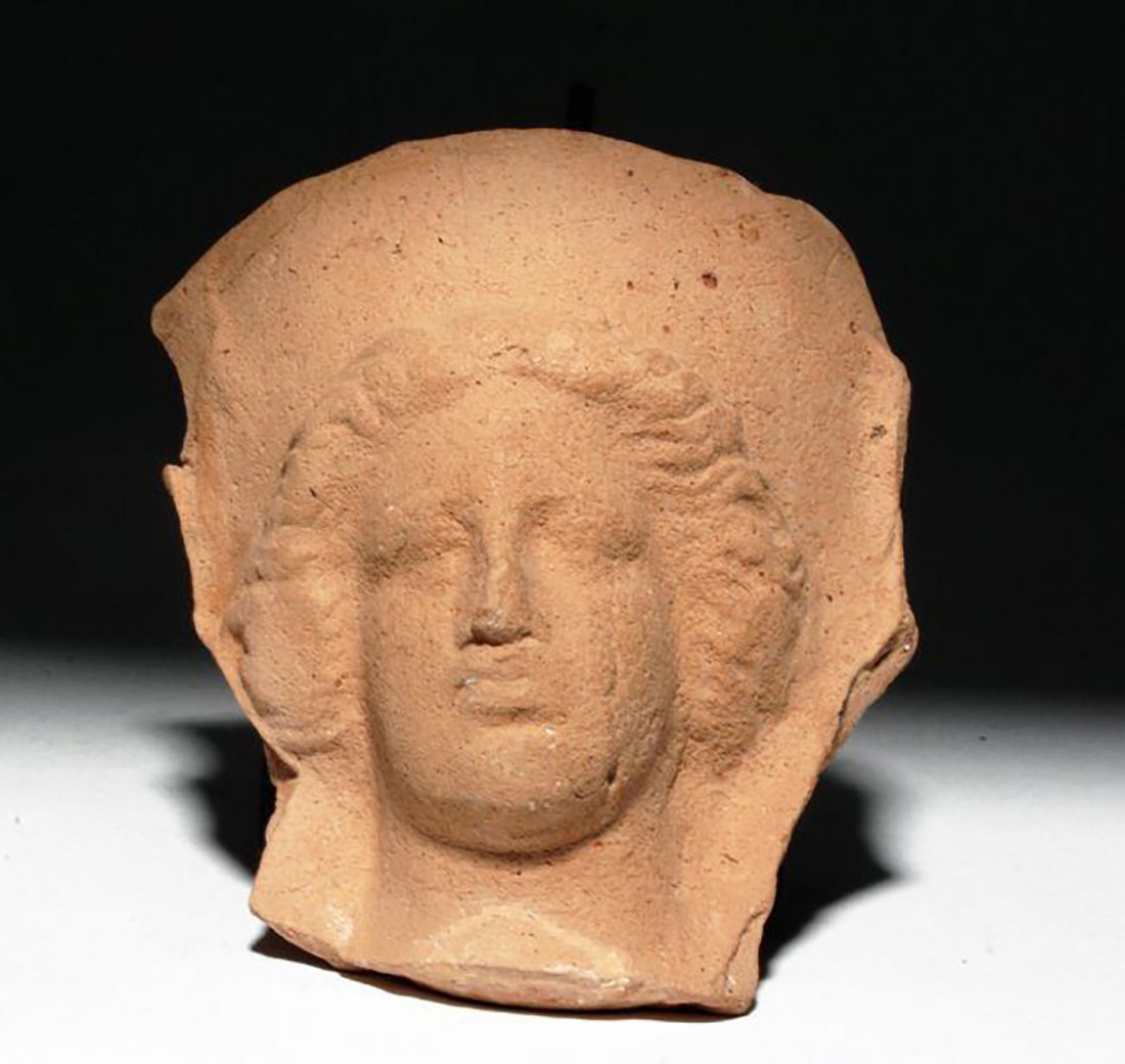 Greek Pottery Protome of Face