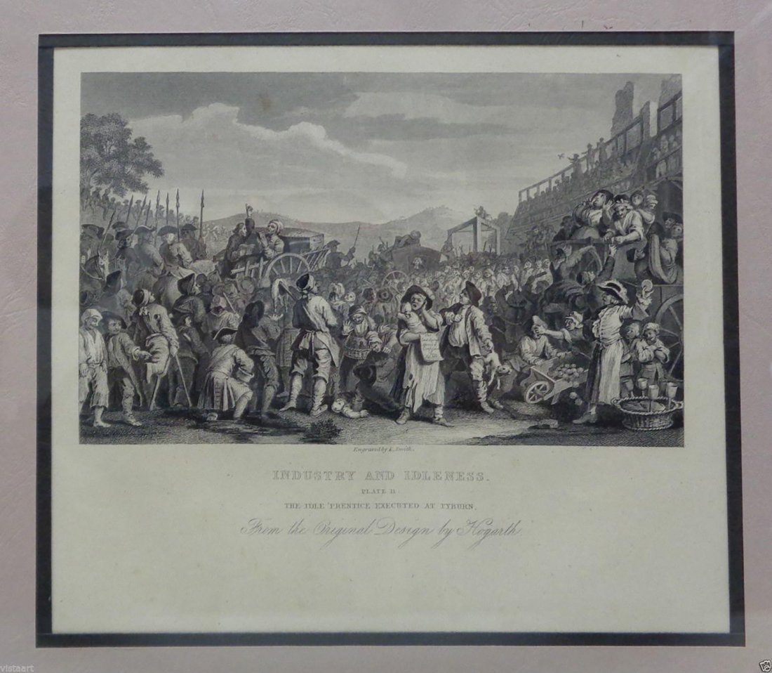 "6 Engravings from W. Hogarth's  ""Industry of Idleness"" - 3"