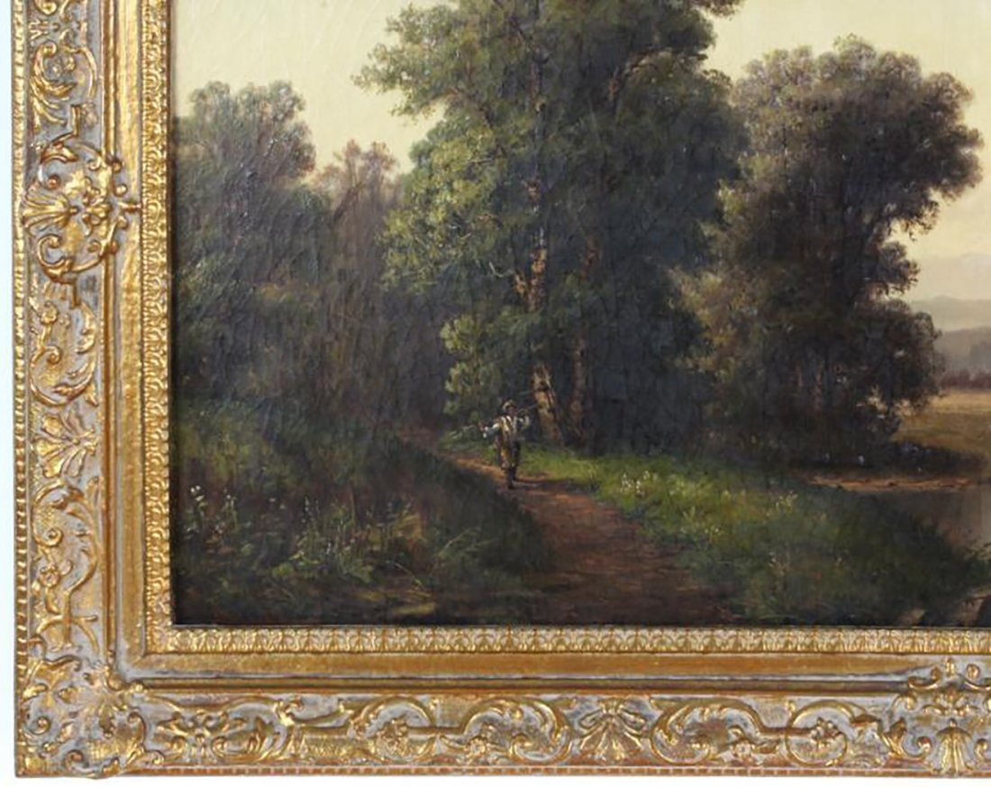 19th C. British Landscape Oil Painting by P. Rudecker - 3