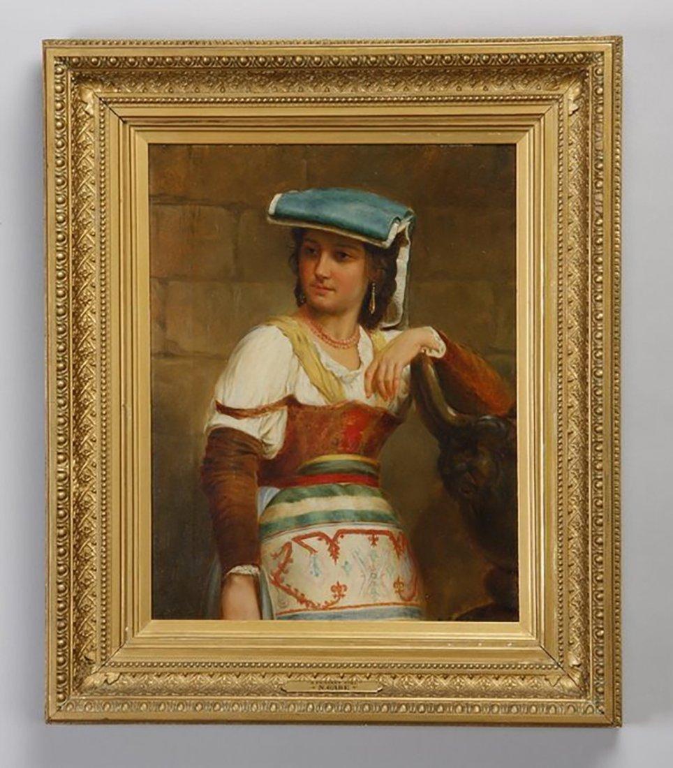 19th Century Original Oil Painting by Nicholas Gabe
