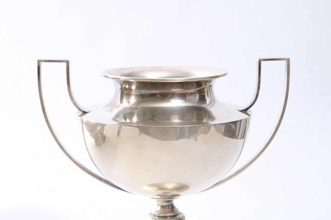 Tall Sterling Silver Footed Urn by Stieff - 2