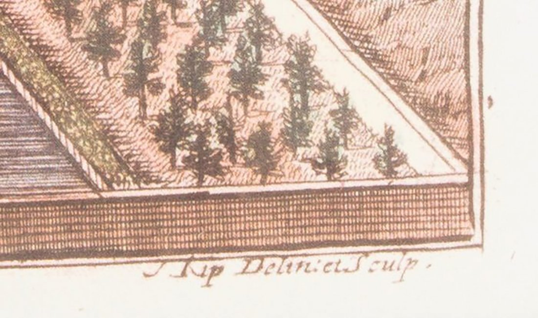 18th Century Engraving by Prominent Dutch Engraver Kip - 3