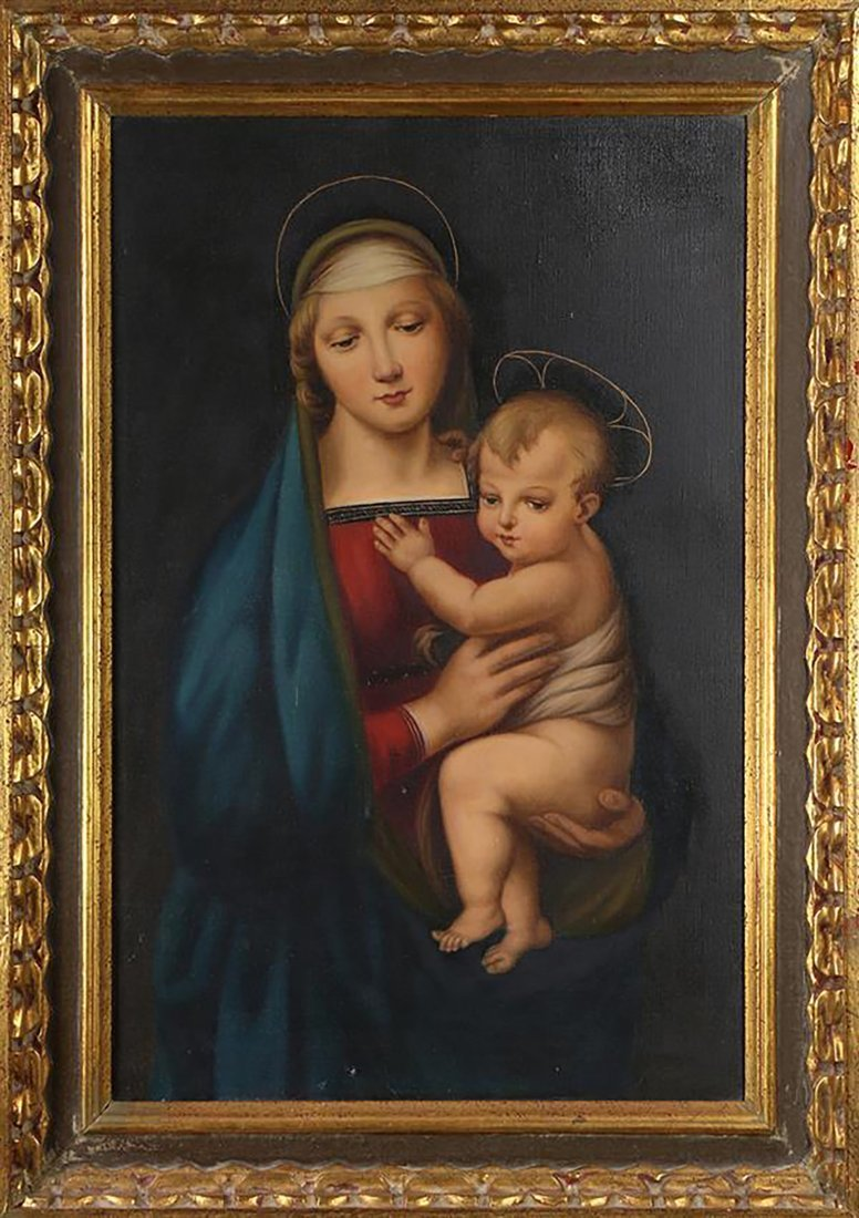 "Oil Painting After Raphael's ""The Madonna del Granduca"""