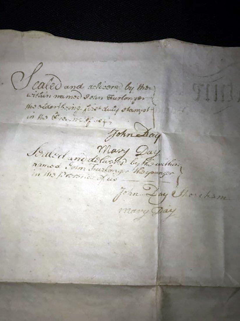 Rare & Unique Original 1767 Indenture on Vellum - 4