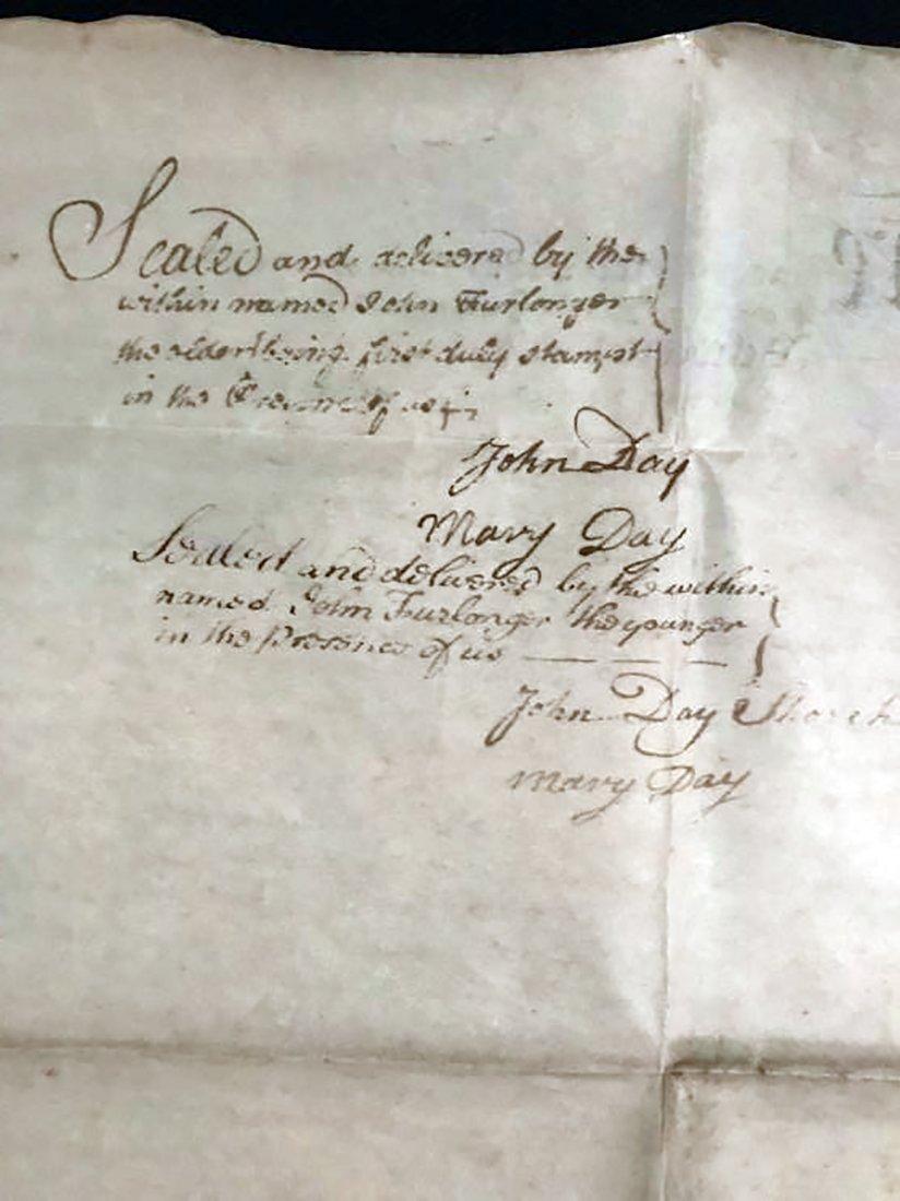 Rare & Unique Original 1767 Indenture on Vellum - 5