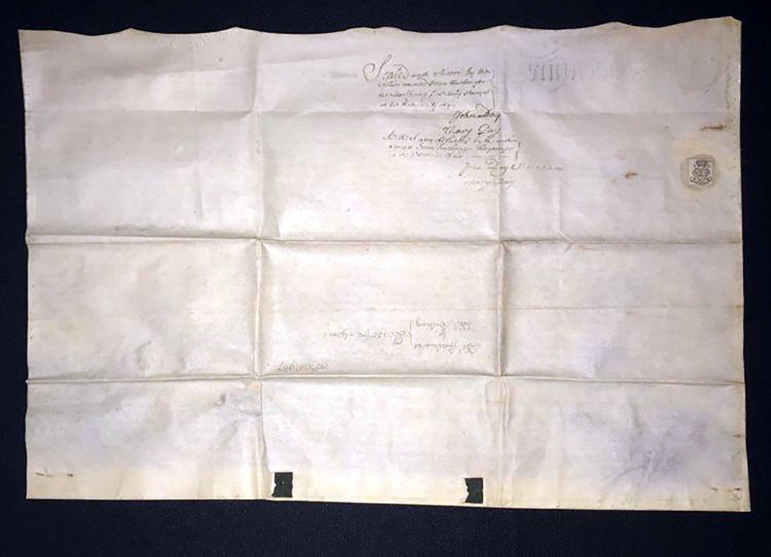 Rare & Unique Original 1767 Indenture on Vellum - 8