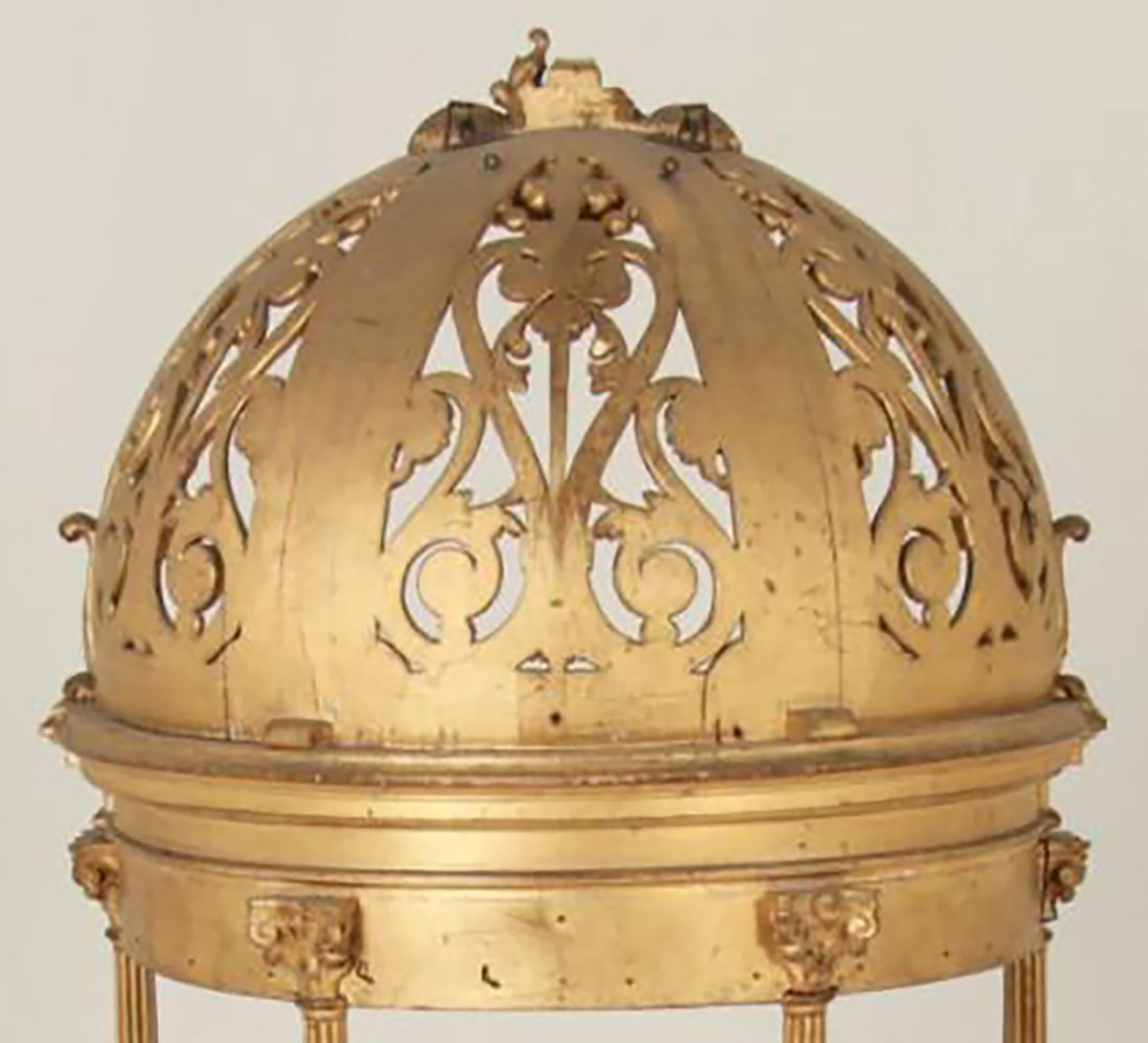 Rare 18th Century Carved Giltwood Dome Top Alterpiece - 5