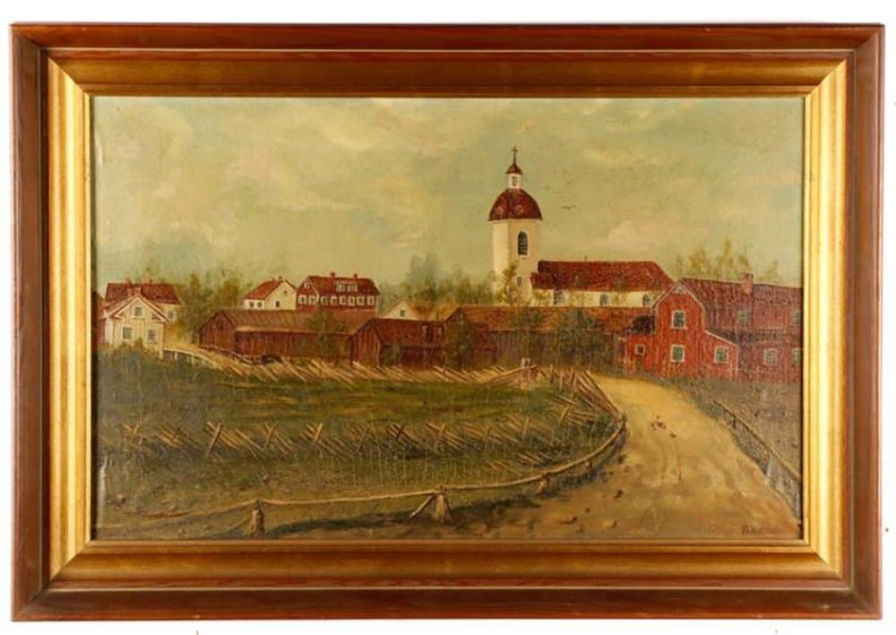 19th Century Landscape Oil Painting by Franz Xaver