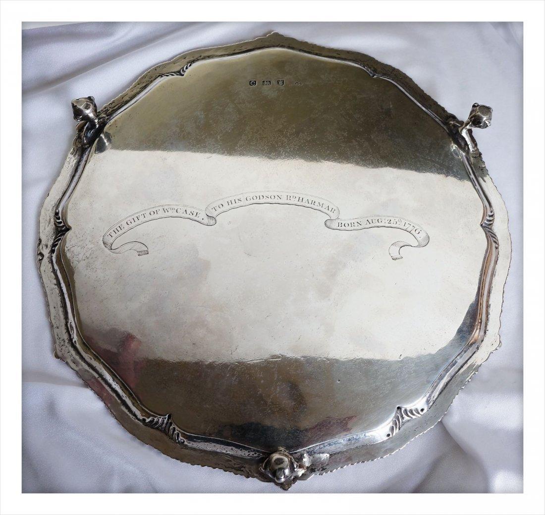 Historic George III Presentation Sterling Silver Salver