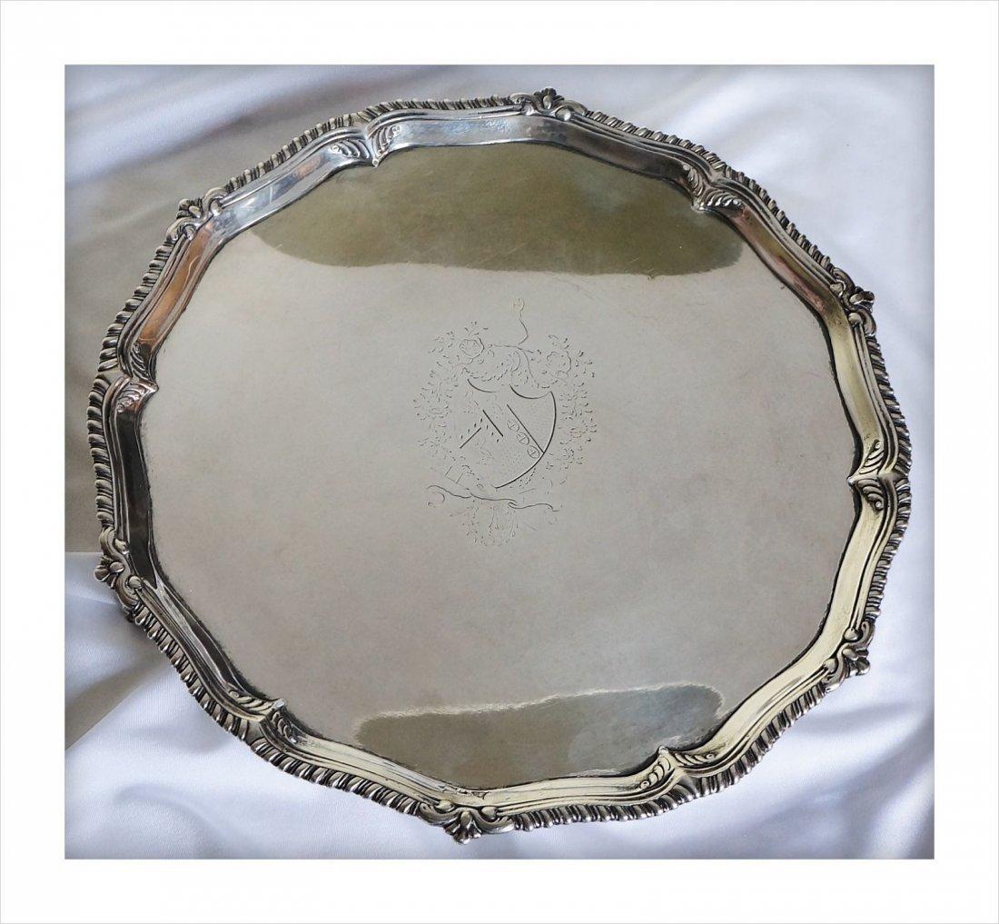 George III Presentation Sterling Silver Salver 1776 - 2