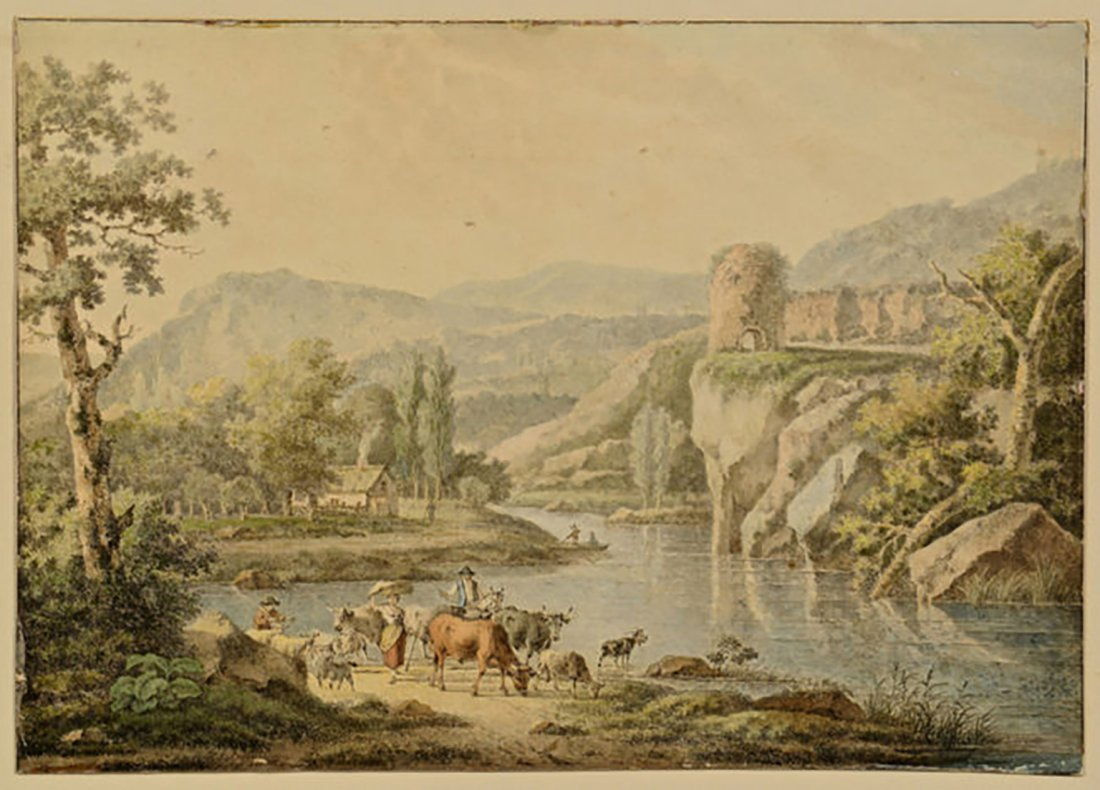 18th Century Henrious Josephus Antonissen Watercolor - 2