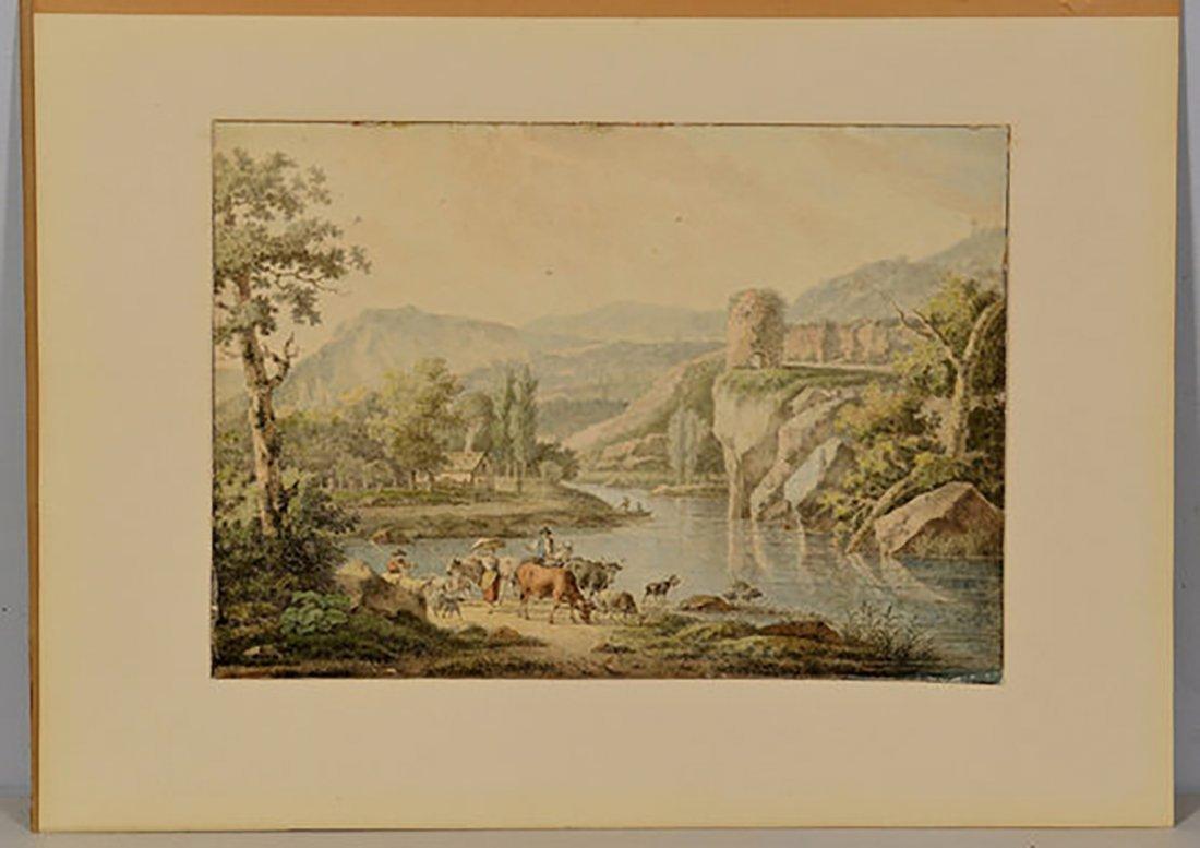 18th Century Henrious Josephus Antonissen Watercolor - 3