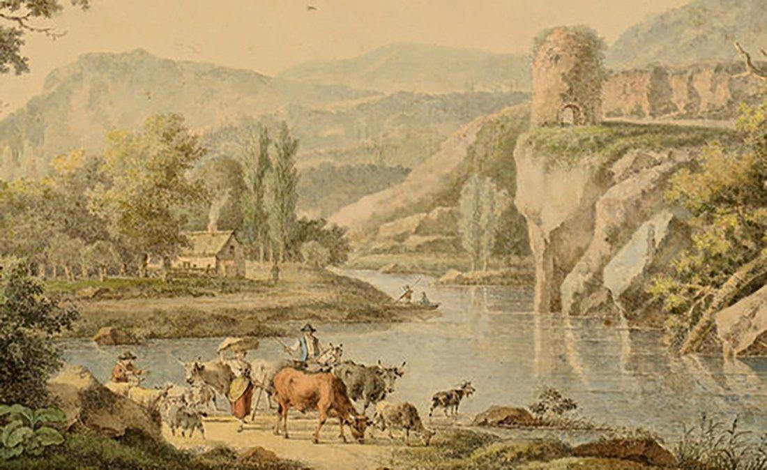 18th Century Henrious Josephus Antonissen Watercolor - 4