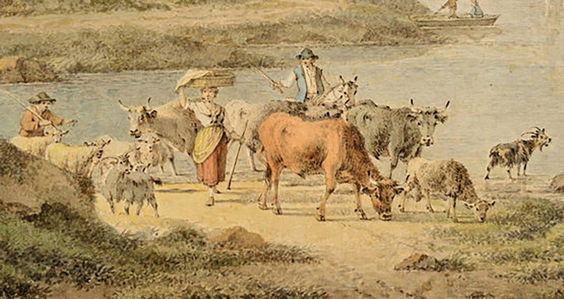 18th Century Henrious Josephus Antonissen Watercolor - 6