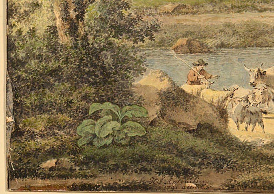 18th Century Henrious Josephus Antonissen Watercolor - 9