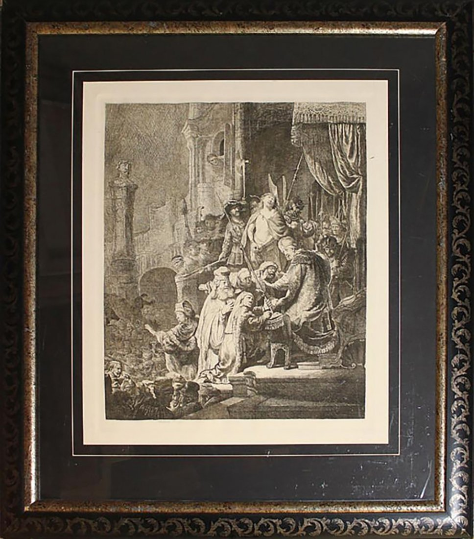 Important Original 19th Century Armond Durand Etching