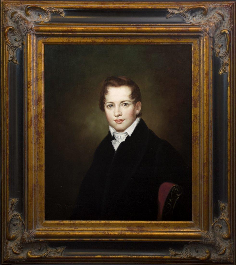 "Original English Oil Painting | ""Portrait of a Scholar"""