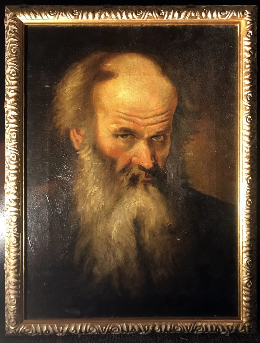 "18th Century Oil Painting Entitled ""Man with a Beard"""