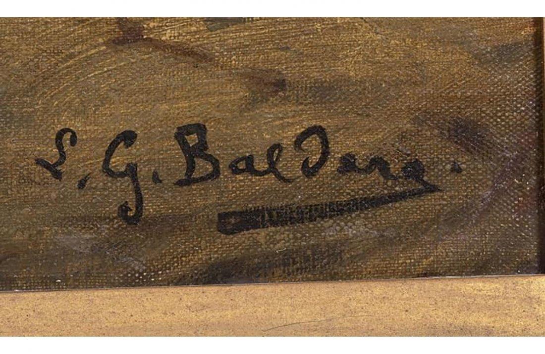 "Italian Painting by Giorgio Baldero ""Tavern Brawl"" - 6"
