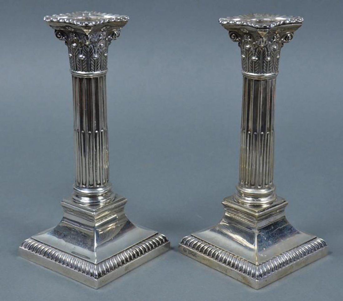 19th Century Victorian English Sterling Candlesticks