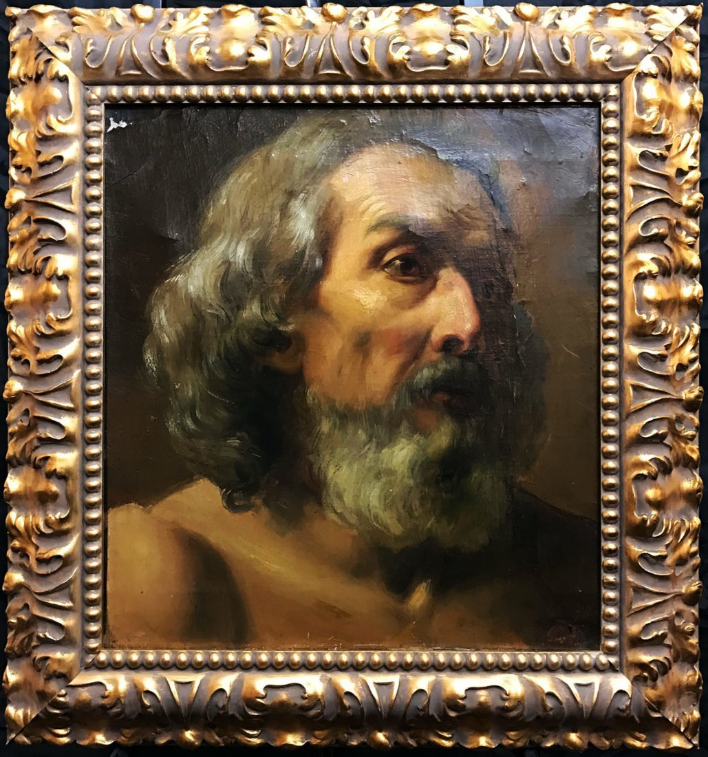 18th Century Oil Painting - Saint Peter -Marco Benefial