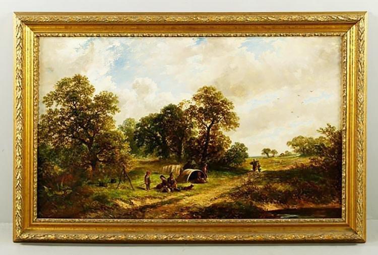 19th Century James Edwin Meadows Oil on Canvas