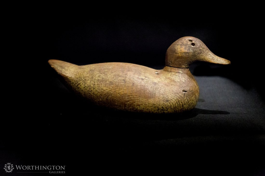 Set of Seven Wooden and Ceramic Ducks - 2