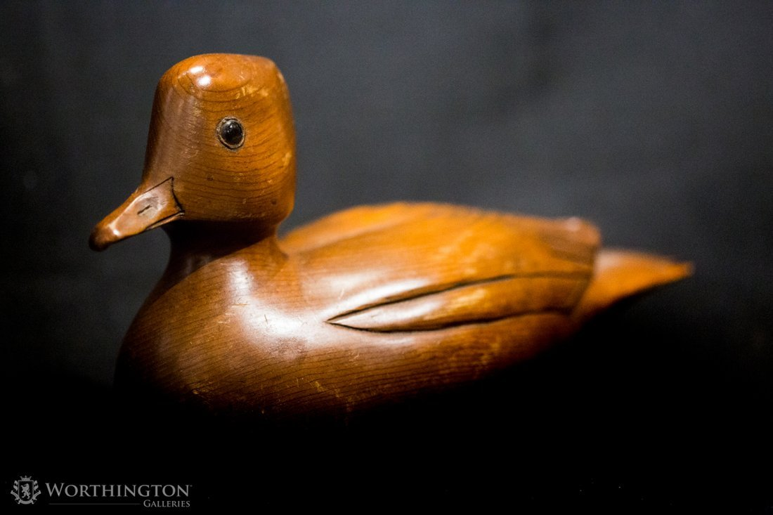 Set of Seven Wooden and Ceramic Ducks - 5