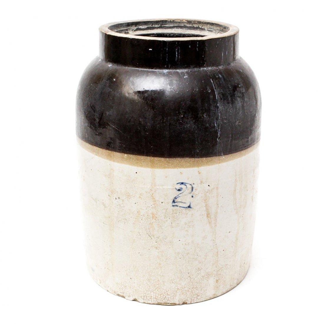 Vintage Two Gallon Stoneware Crock
