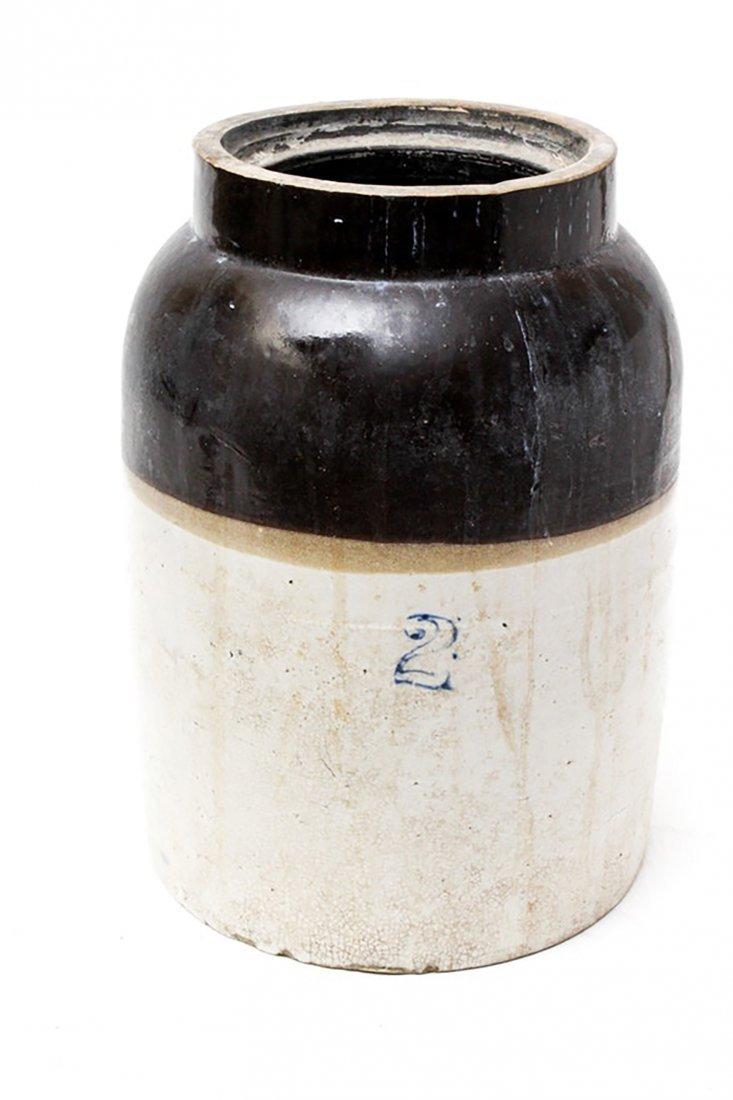 Vintage Two Gallon Stoneware Crock - 2