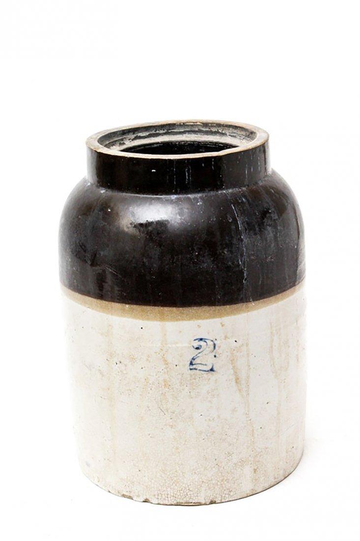 Vintage Two Gallon Stoneware Crock - 3