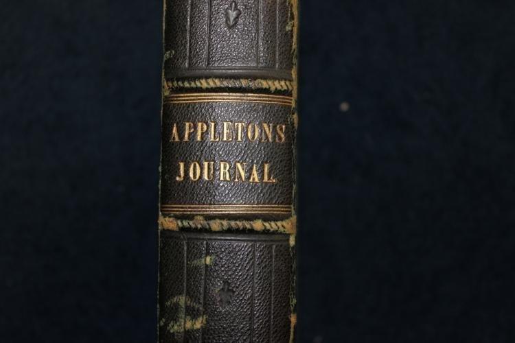 1869 Leather Bound Appletons Journal Vol.1
